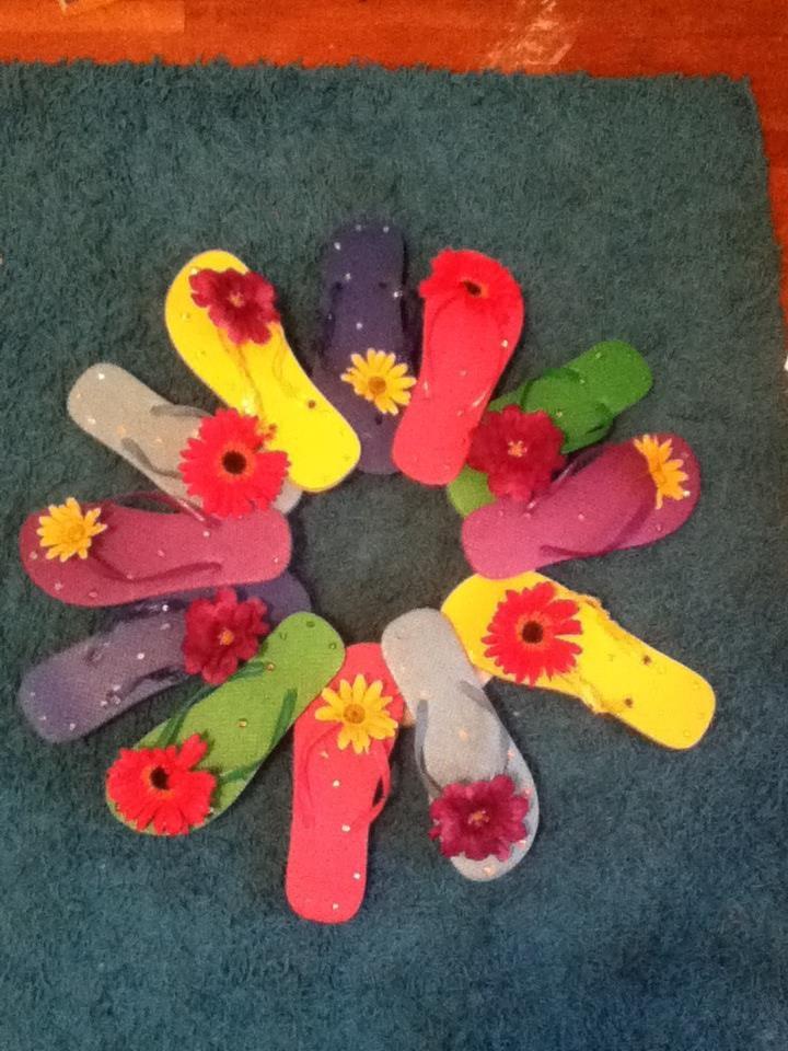 flip flop wreath! DIY $15