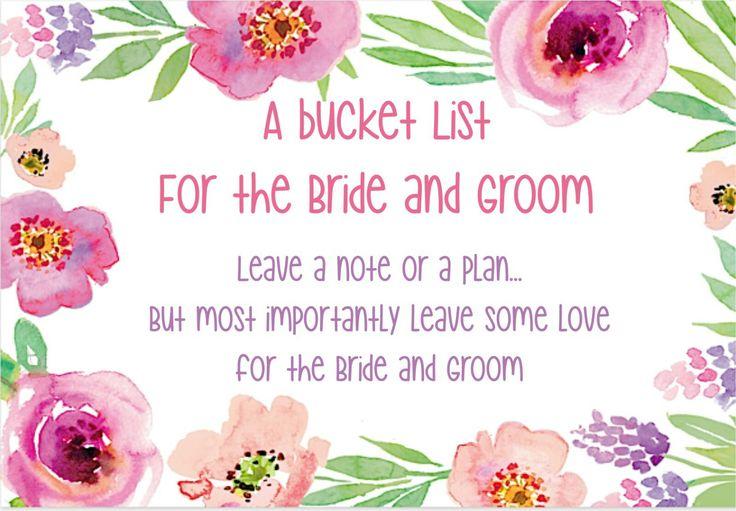Bucket list wishes