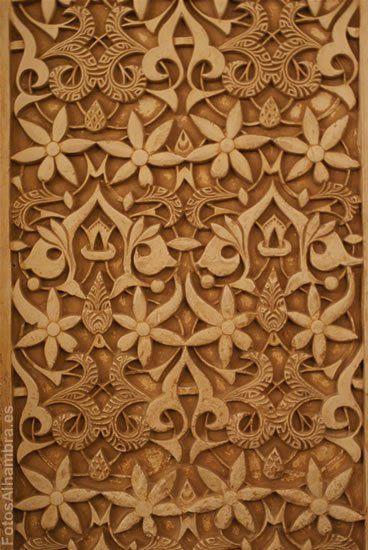 Flores en el Patio de los Leones de la Alhambra