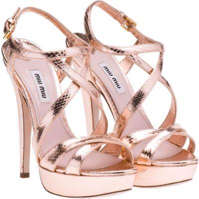 Gold Strappy Heels