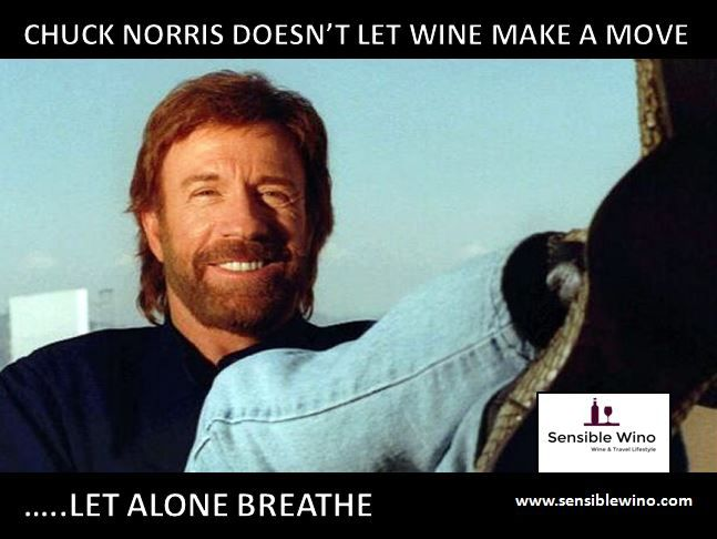 Chuck Norris Wine Facts Meme Collection - Funny Wine Humor - More at www.sensiblewino.com