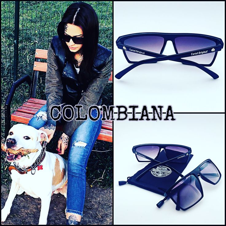 COLOMBIANA Black Sunglasses. Brutally retro square style. #sunglasses #glasses #sun #sonnenbrille #tattoo #tattooink #tattooedgirl #tattooed #tattoolove #tattoolovers #tattoos #tattoogirl #ink #inked #inklife #inkstyle #inkstagram #inkedgirl #inkedgirls #inkedmag #suicideangels #eyewear #outdoors #premiumquality #premiumbranded #onlinestore #onlineshop