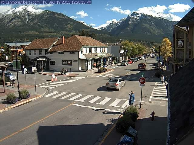 Canmore Alberta.com live Canmore Downtown WebCam