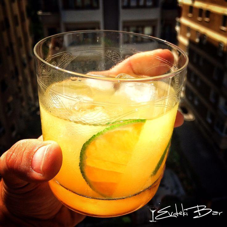 Mithering Bastard scotch viski, portakal suyu, triple sec #orange #juice #viski #içki #scotch #triple #sec #tarif #recipe #içki #kokteyl #cocktail