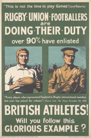 Rugby Union Footballers are Doing Their Duty 1914