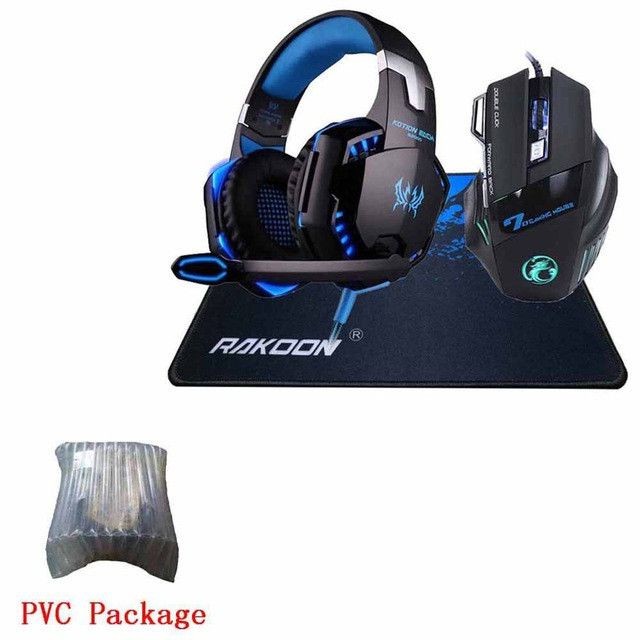 In Stock 5500 DPI X7 Pro Gaming Mouse+EACH G2000 Hifi Pro Gaming Headphone Game Headset+Gift Big Gaming Mousepad for Pro Gamer