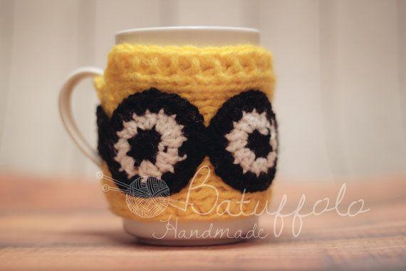 Mug cover - mug fatto a maglia con soggetto minion