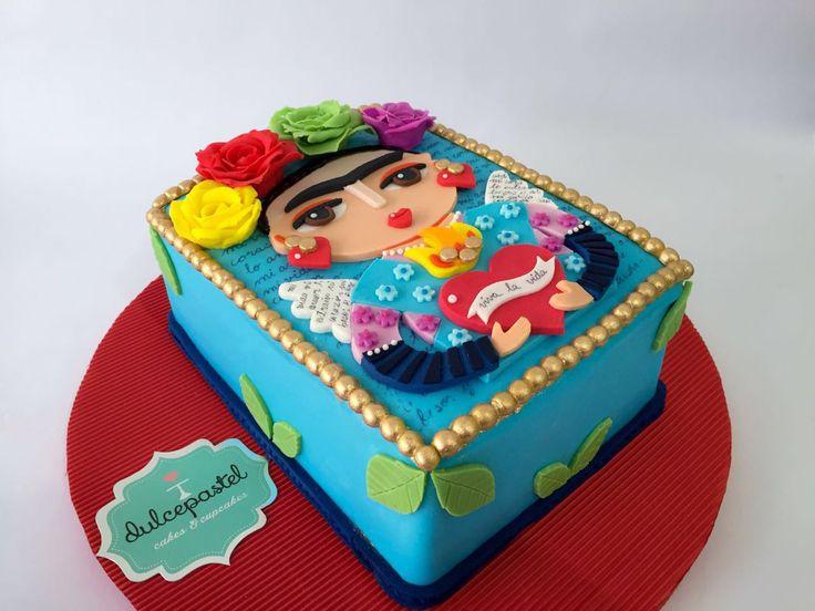 Frida Kahlo Cake - Torta de Frida Kahlo - www.dulcepastel.com  #tortasenenvigado…
