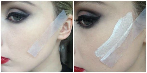 """Easy step-by-step version of Maleficent's makeup, both a """"wearable"""" version and a costume makeup version…"""