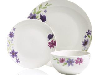 Purple Bloom 12 Piece Dinner Set was £20.00 | now £15.00 http://tidd.ly/8b88bfb