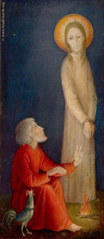 """Bradi-Barth___IC.XC  & Αποστολος  Πετρος """" πριν ο αλεκτωρ φωνησει τρις......."""""""