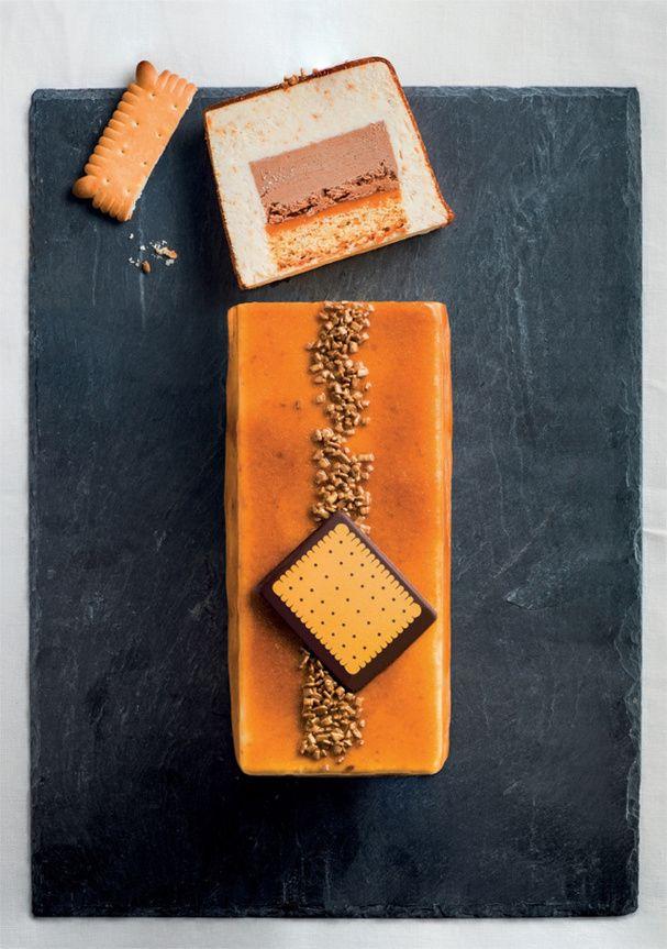 Une bûche de Noël au goût régressif  : la bûche pâtissière au petit beurre de Monoprix Gourmet