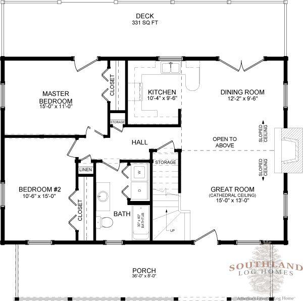 426 best floor plans images on pinterest house floor for Traditional log cabin plans