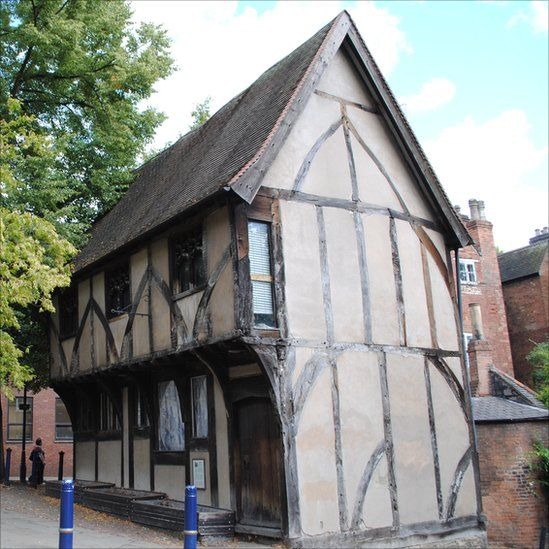 The Severns Building Nottingham, which housed the Lace centre until it closed in 2009.  It dates backto the 15th Century and is located near the walls of Nottingham Castle.