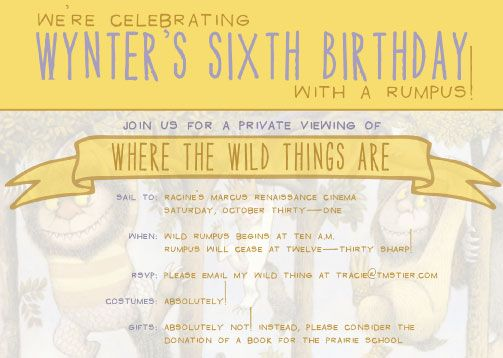 where the wild things are invite/ party ideasBirthday Parties, Birthday Invitations, Boys Birthday, 1St Birthday, Max Birthday