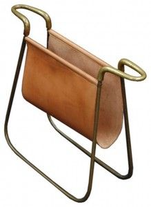 Carl Aubock (Austrian) | Mag Rack - leather  Brass