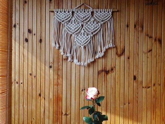 Macrame wall hanging  Macrame modern decor  Macrame wall art