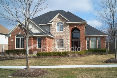 Red Brick White Stone Beautimous Family Room Office