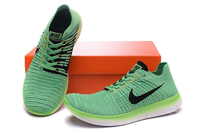 4fb7088c117e Nike Free Shoes · 2018 Real WMNS Nike Free Rn Flyknit Voltage Green Poison  Green Black Nike Free