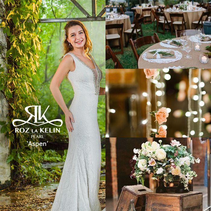 Aspen l Roz la Kelin Pearl Collection Vintage Inspired Wedding
