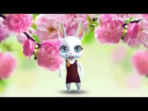 Zoobe Зайка Поздравление с Днём Рождения. - YouTube