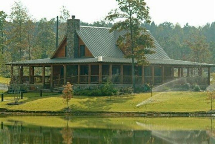 rustic house plans with wrap around porches | Rustic Log Home with ...