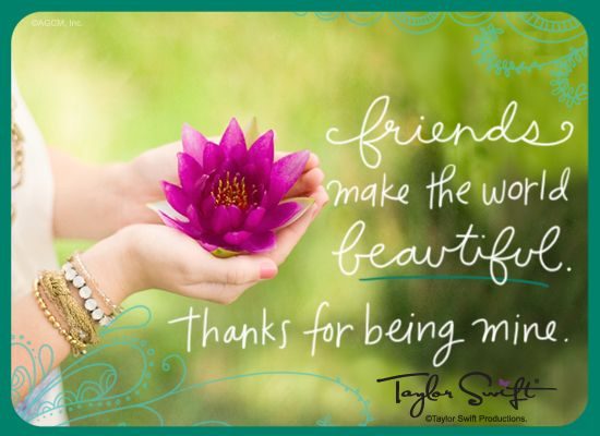 taylor swift birthday partys | Thankful For You - Taylor Swift (Postcard) - Thanks Friend Ecard ...