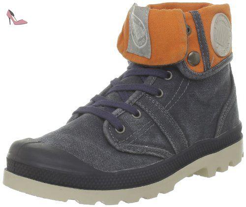 Palladium Baggy, Boots mixte enfant, Bleu (438 Navy/Orange), 32 - Chaussures palladium (*Partner-Link)