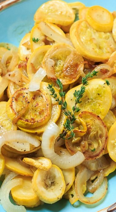 Sauteed Summer Squash with Onions