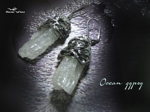 Raw aquamarine earrings natural aquamarine earrings