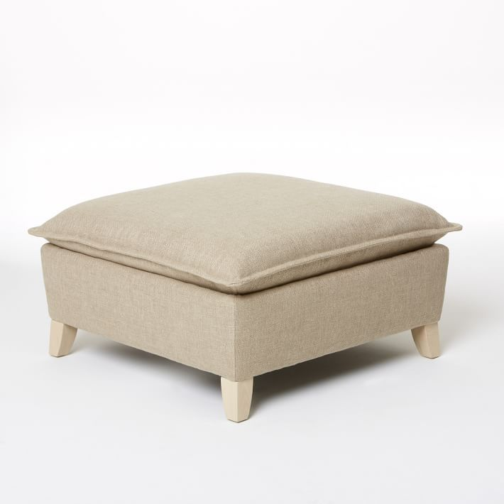 Bliss Down-Filled Ottoman (With images) | Ottoman, Living ...