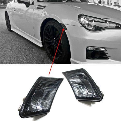JDM Crystal Smoke Front Bumper Side Marker Lights For Scion FR S / Subaru  BRZ