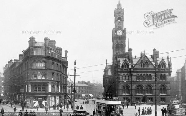 Bradford, Town Hall Square 1903, from Francis Frith