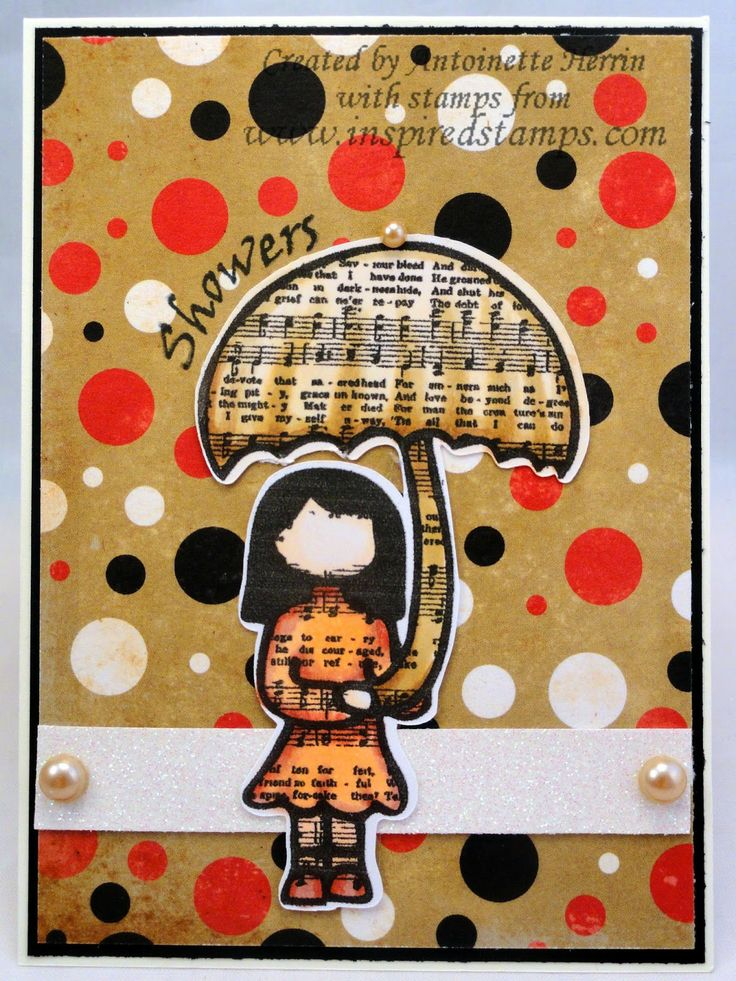 art; journal; cards; character card; APRIL; Inspired Stamps; Bazzill;   artwork at www.inspiredstamps.blogspot.com