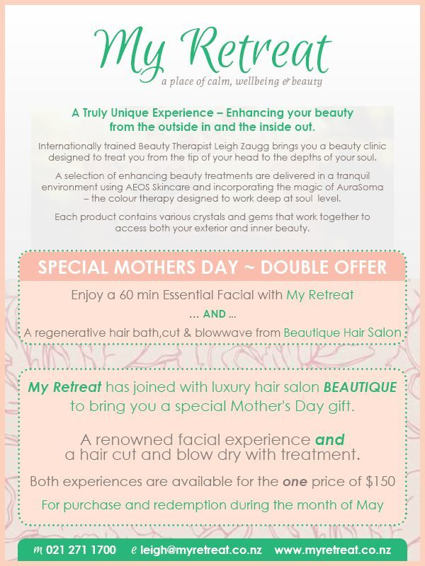 DrumRoll ... and the beat goes out . . . HAPPY MOTHERS DAY WEEKEND Grab your Mothers Day Special from Leigh. Find out more . . DrumRoll ... and the beat goes out ... Issue 56 sent Wed 4th May  http://conta.cc/26Oj9qW   #DrumRoll #DrumRollPromotions #NewZealand #Leigh #MyRetreat #beautycare #massage