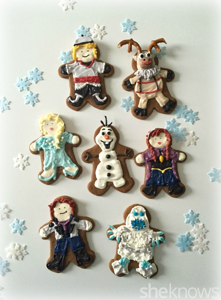 Turn the Frozen cast into Christmas gingerbread men cookies!
