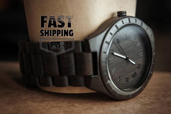 Men wooden watch,Wooden watch engraved,Personalize watch,Wood watch for men,Watch gift for dad,Groom