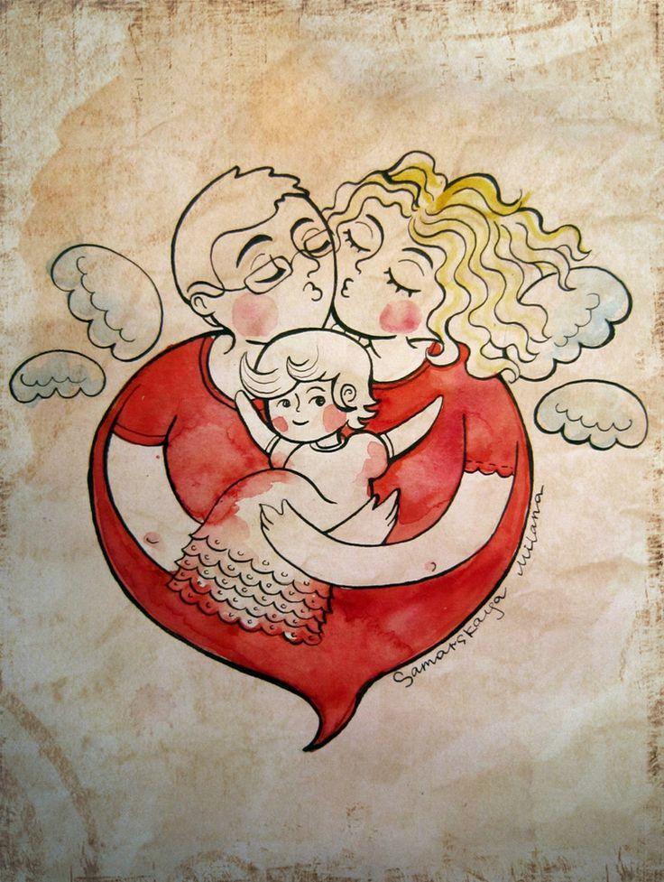 Сообщество иллюстраторов | Иллюстрация Семья_2.