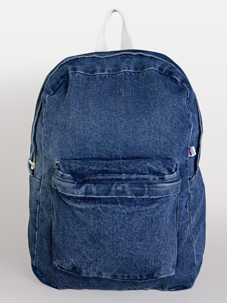 Denim School Bag