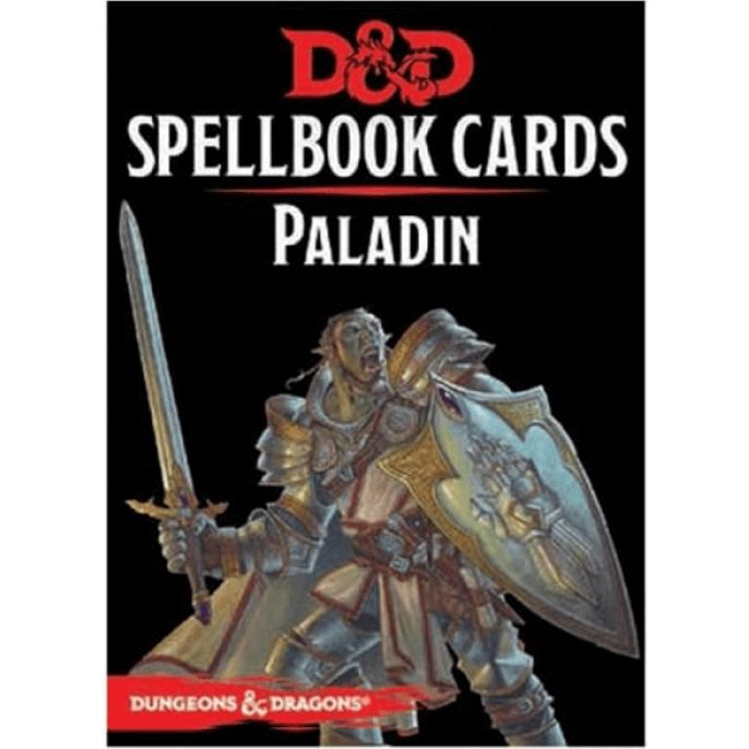 D&D Spellbook Cards Paladin Revised