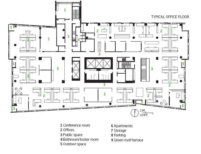 Typical Office Floor Plan Of Twelve