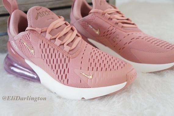 Swarovski Bling Nike Air Max 270 zapatos en oro rosa ...