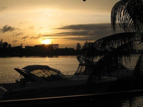 A view of the Lagos Lagoon at sunset