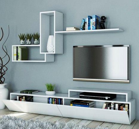TV Ünitesi Modelleri Birbirinden Modern Televizyon Sehpası Seçenekleri- Vivense
