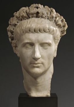 Marble Portrait head of the Emperor Claudius, Roman Imperial, A.D. 41-54, 16 inches high