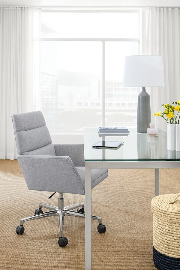 The Tenley office chair combines clean, modern style with the comfort you  need to work