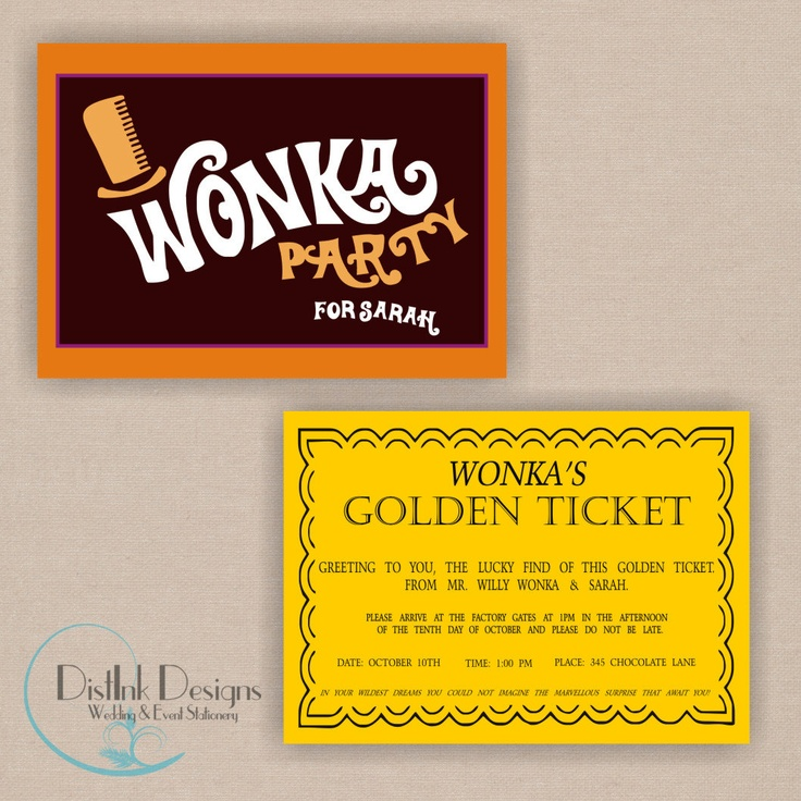 31 best images about Jennie Ed volunteer party – Golden Ticket Party Invitations