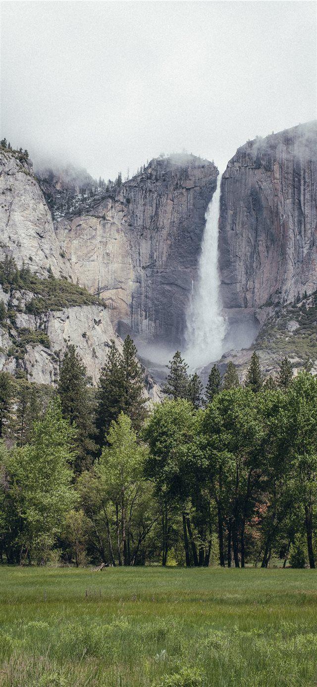 Yosemite National Park Nature Scenery Waterfall