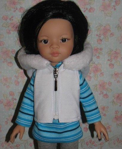 Одежда для куколок Paola Reina джинсовый комбинезон, тренч и жилет / Одежда для…