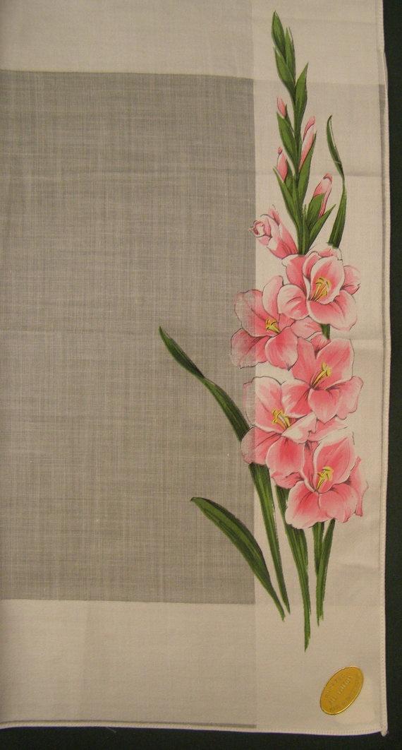 Pretty gladiolus hankie.
